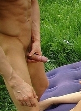 Nude Beach Dreams. Sexy brunnette babe gets dirty on this swingers beach threesome