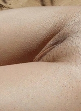 Close-up pictures from nudist beaches